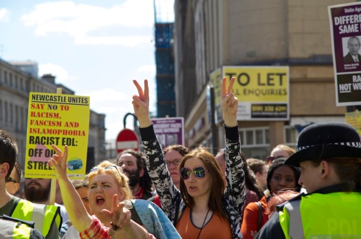 Anti-EDL march make their voice's heard