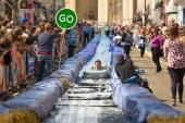 Bristol Park Street water slide